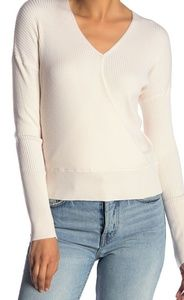 NWOT Elodie wrap sweater in cream color